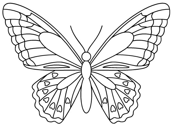 Coloriage Rosace Papillon tout Coloriage De Papillon A Imprimer Gratuit