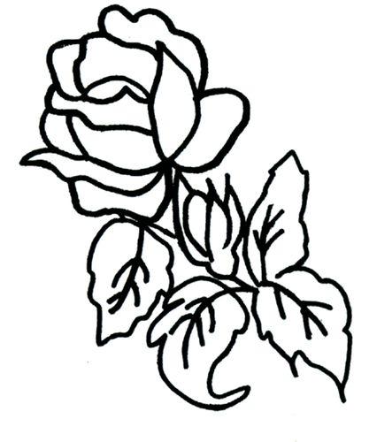 Coloriage: Rose - Le Blog De Ludovica encequiconcerne Coloriage D Une Rose