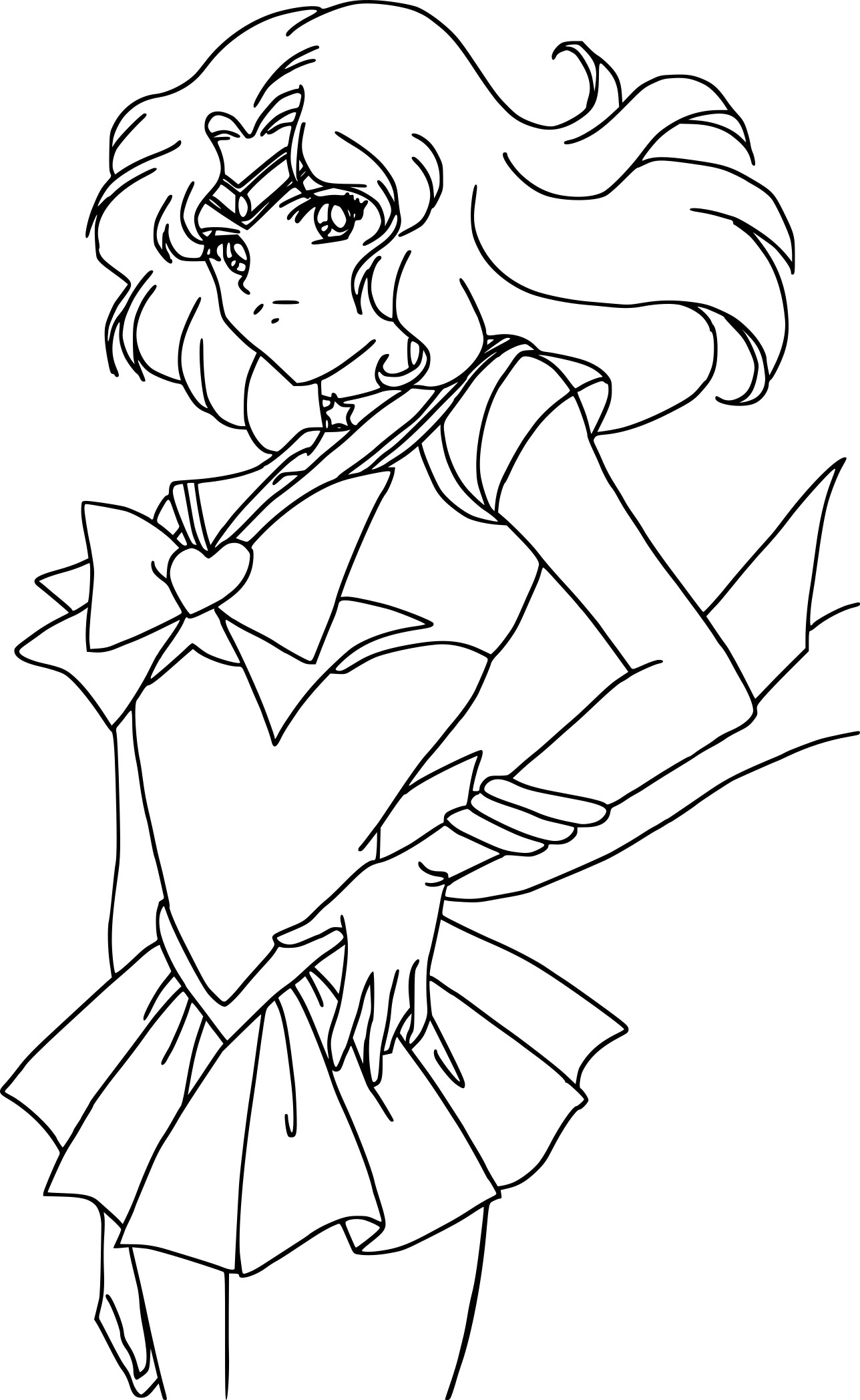 Coloriage Sailor Neptune À Imprimer Gratuit encequiconcerne Coloriage Sailor Moon A Imprimer
