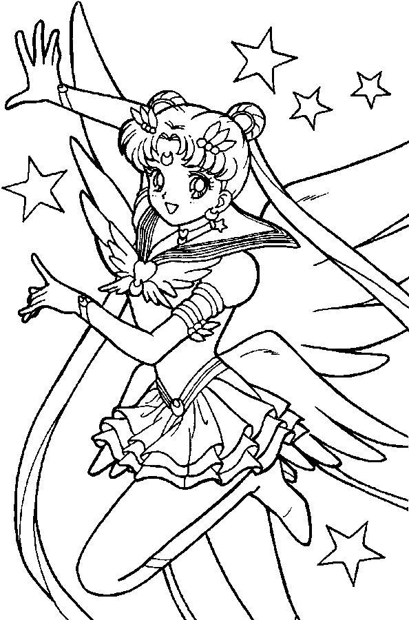 Coloriage Sailormoon intérieur Image De Dessin Animé A Colorier