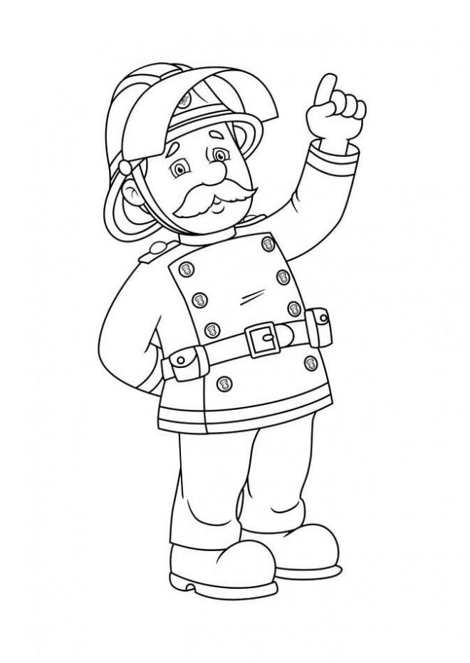 Coloriage Sam Le Pompier 13 Dessin Gratuit À Imprimer destiné Dessin Pompier A Imprimer