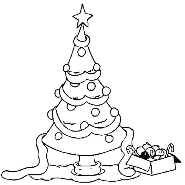 Coloriage Sapin De Noël Déco En Ligne Gratuit À Imprimer avec Coloriage De Sapin De Noel A Imprimer Gratuit