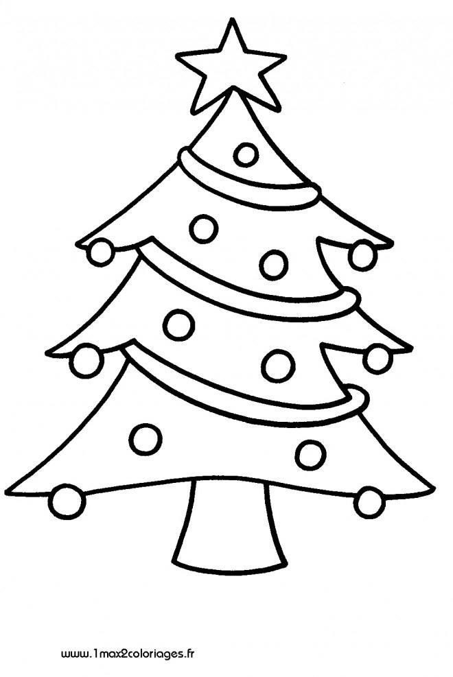 Coloriage Sapin De Noël En Couleur Dessin Gratuit À Imprimer dedans Dessin A Decouper Gratuit