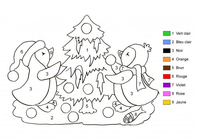 Coloriage Sapin De Noël En Couleurs Différents intérieur Coloriages Magiques Noel