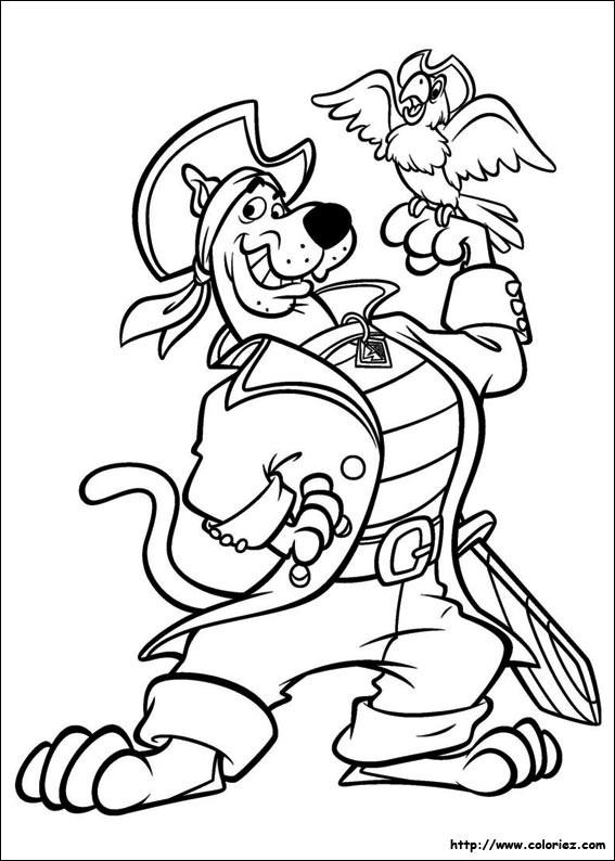 Coloriage Scooby Doo Gratuit À Imprimer Liste 20 À 40 pour Coloriage Scooby Doo