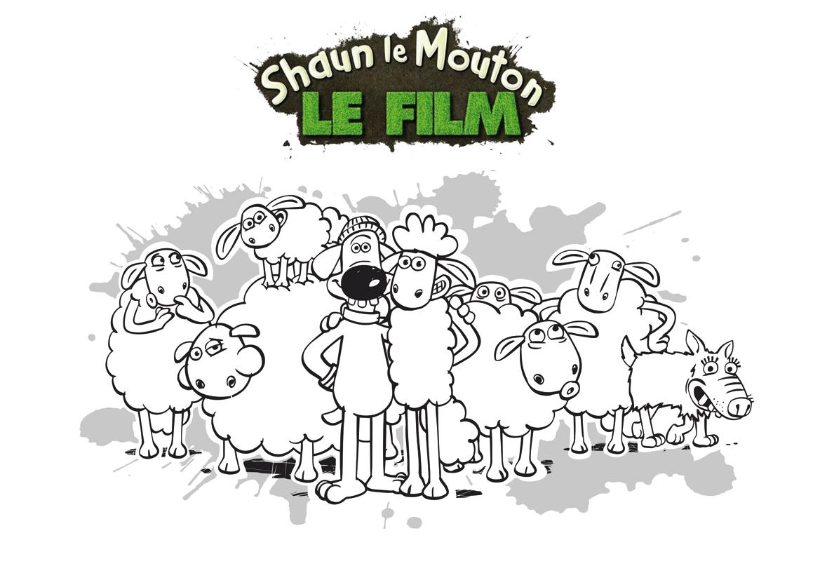 Coloriage Shaun Et Ses Amis - Momes pour Coloriage Mouton À Imprimer
