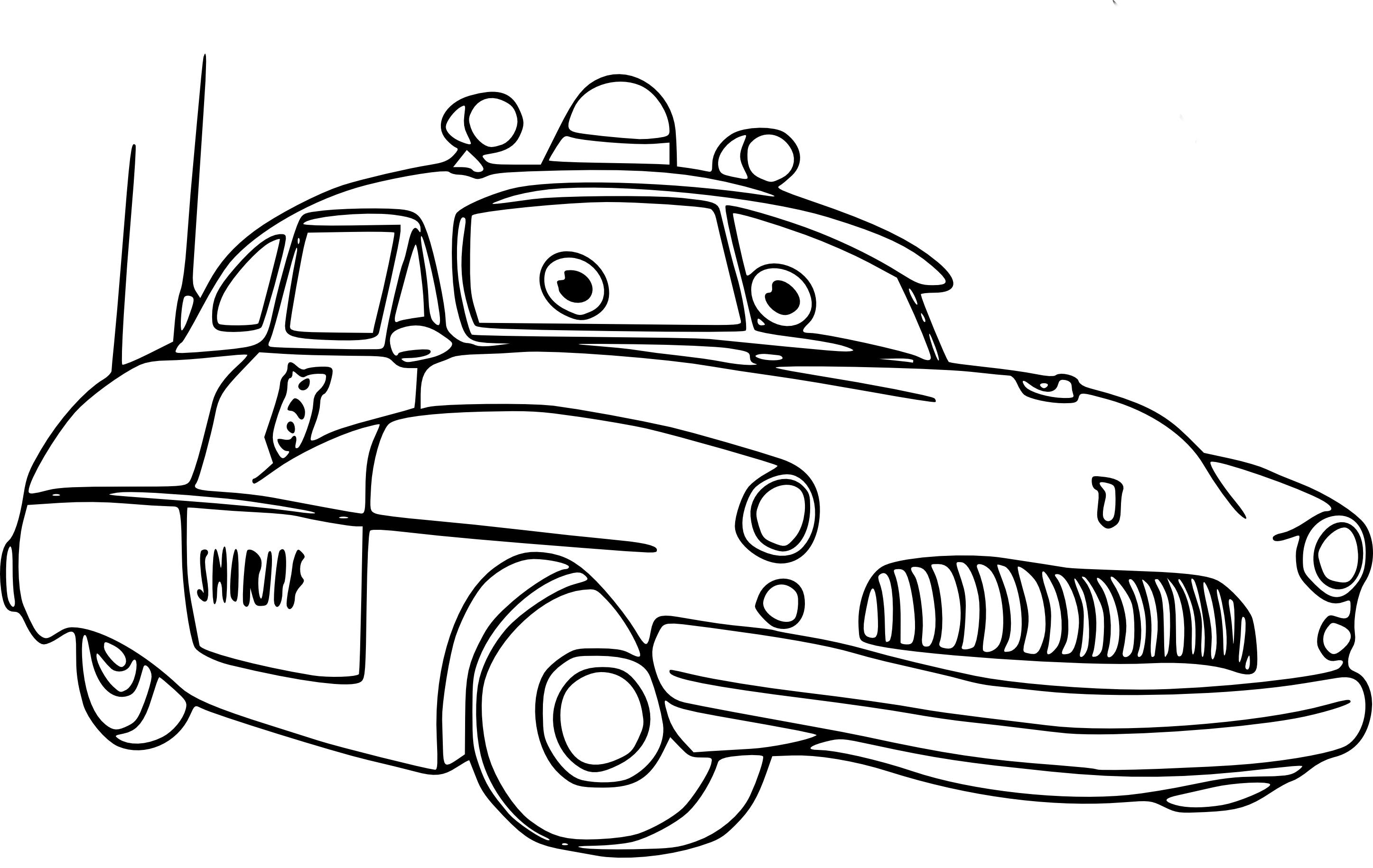 Coloriage Sheriff (Cars) À Imprimer Et Colorier tout Coloriage Cars À Imprimer Pdf