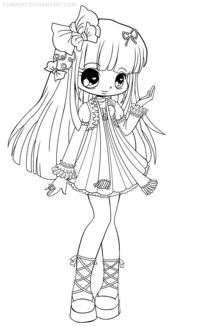 Coloriage Shojo | Coloriage Manga intérieur Manga Dessin A Imprimer