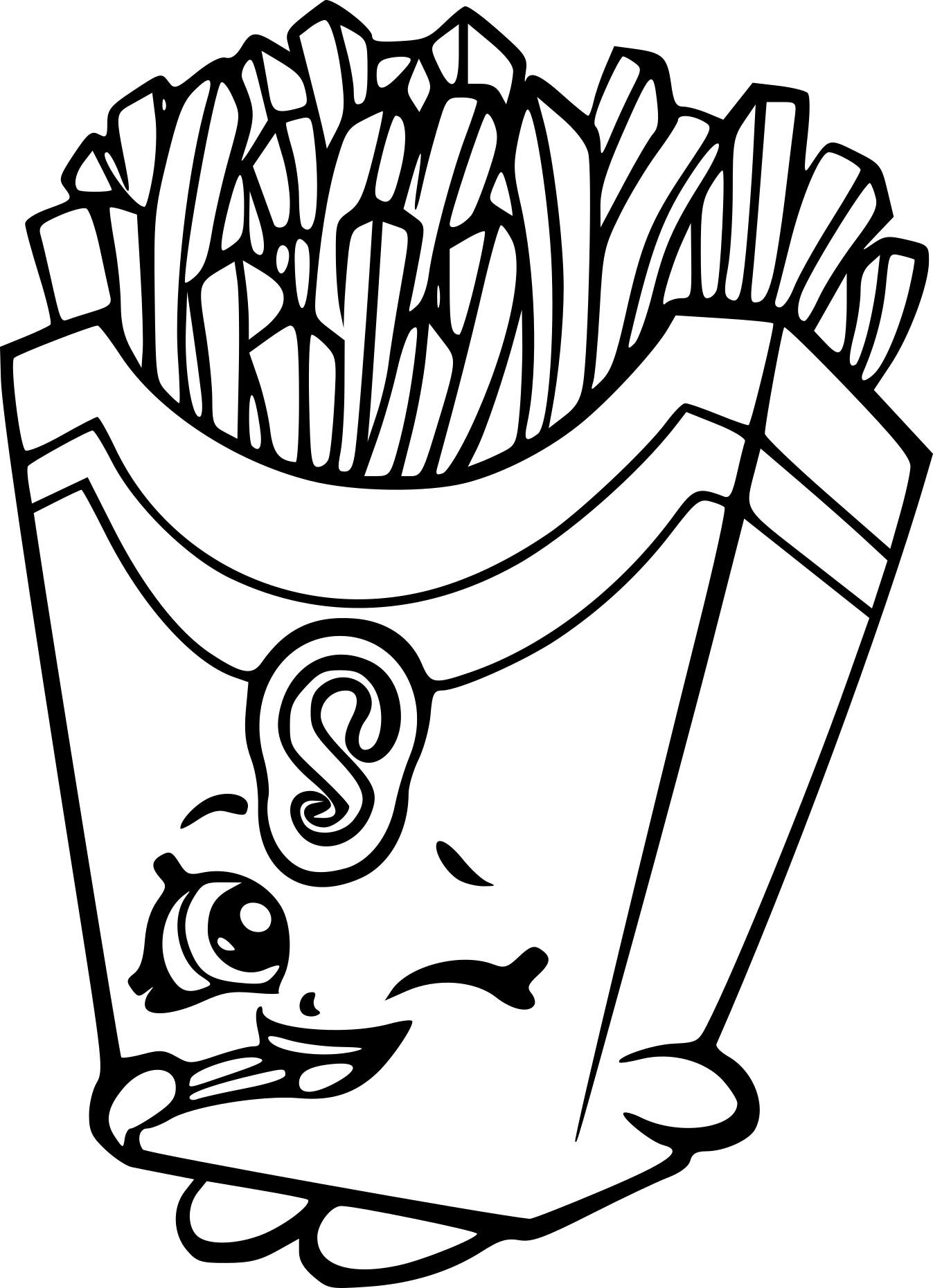 Coloriage Shopkins Frites À Imprimer Gratuit concernant Dessins Acolorier