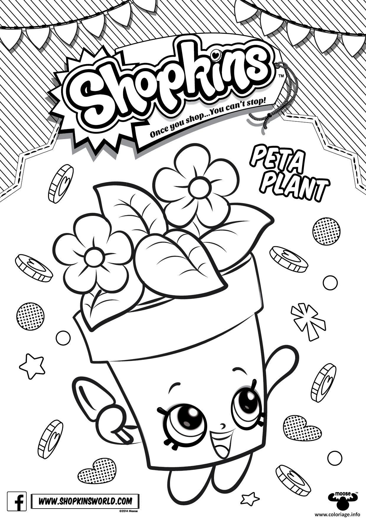 Coloriage Shopkins Peta Plant Dessin À Imprimer à Coloriage A Imprimer Gratuits