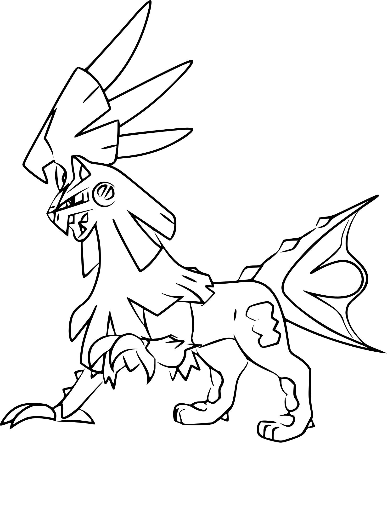 Coloriage Silvallié Pokemon À Imprimer encequiconcerne Coloriage Pokemon