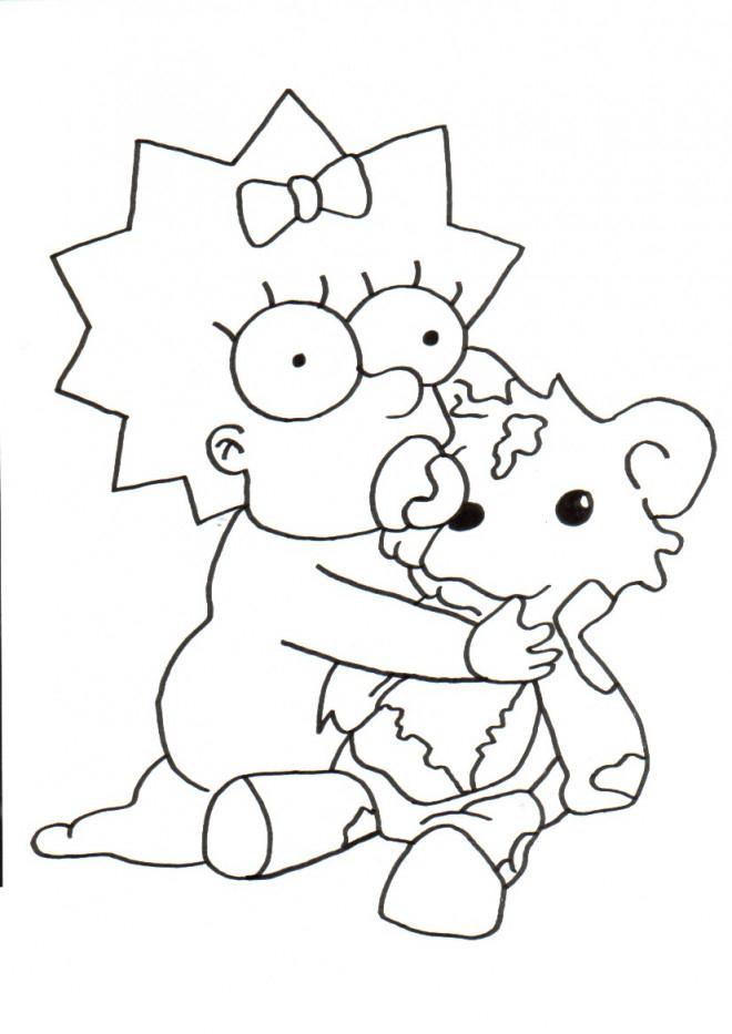 Coloriage Simpson Bébé Joue Dessin Gratuit À Imprimer tout Coloriage Simpson A Imprimer Gratuit