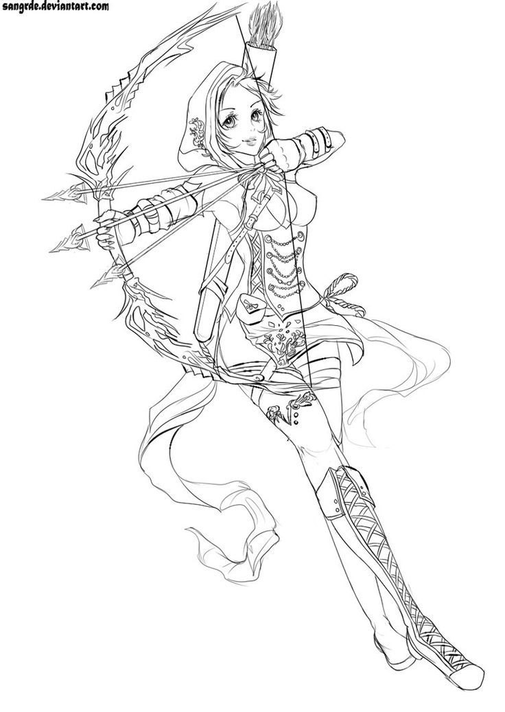 Coloriage | Sketches, Fantasy Drawings, Drawings serapportantà Coloriage Fille
