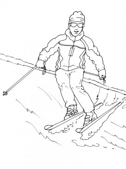 Coloriage Ski Maternelle Dessin Gratuit À Imprimer encequiconcerne Dessin De Ski