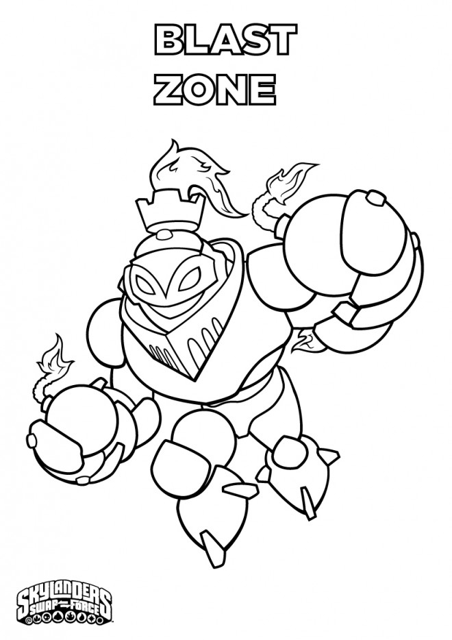 Coloriage Skylanders Blast Zone Dessin Gratuit À Imprimer destiné Coloriage Skylanders Trap Team A Imprimer Gratuit