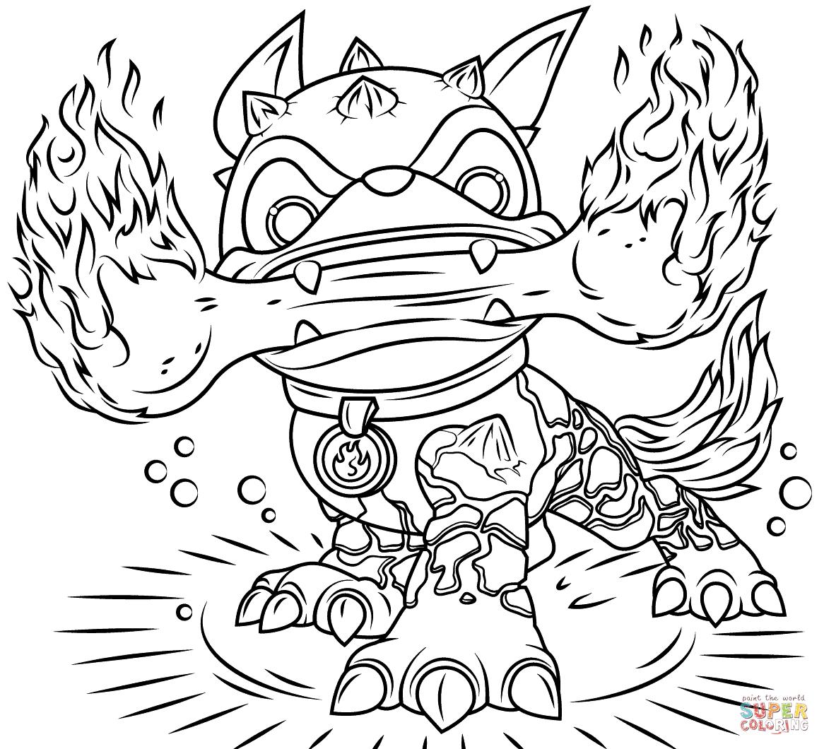 Coloriage - Skylanders Fire Bone Hot Dog | Coloriages À dedans Coloriage De Skylanders Giants