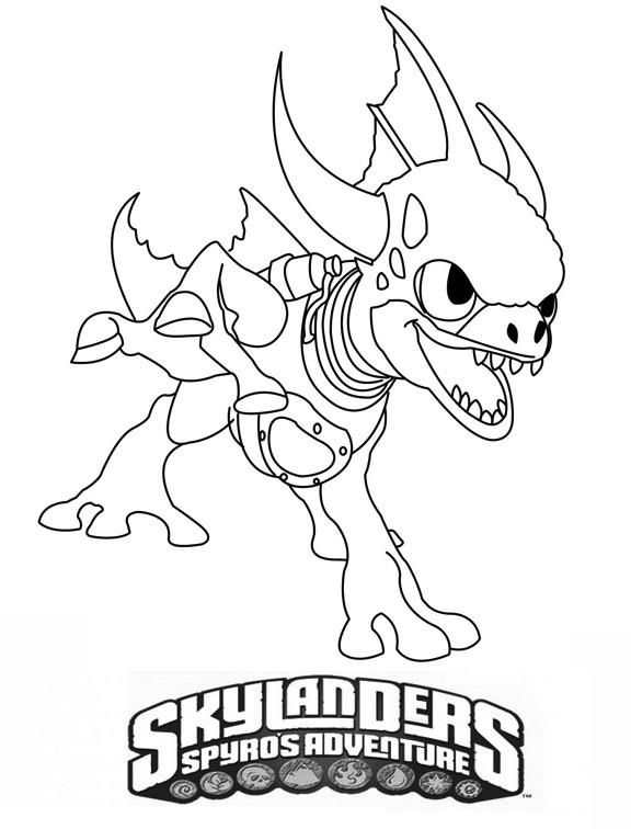 Coloriage Skylanders Giants Image Dessin Gratuit À Imprimer à Coloriage De Skylanders Giants
