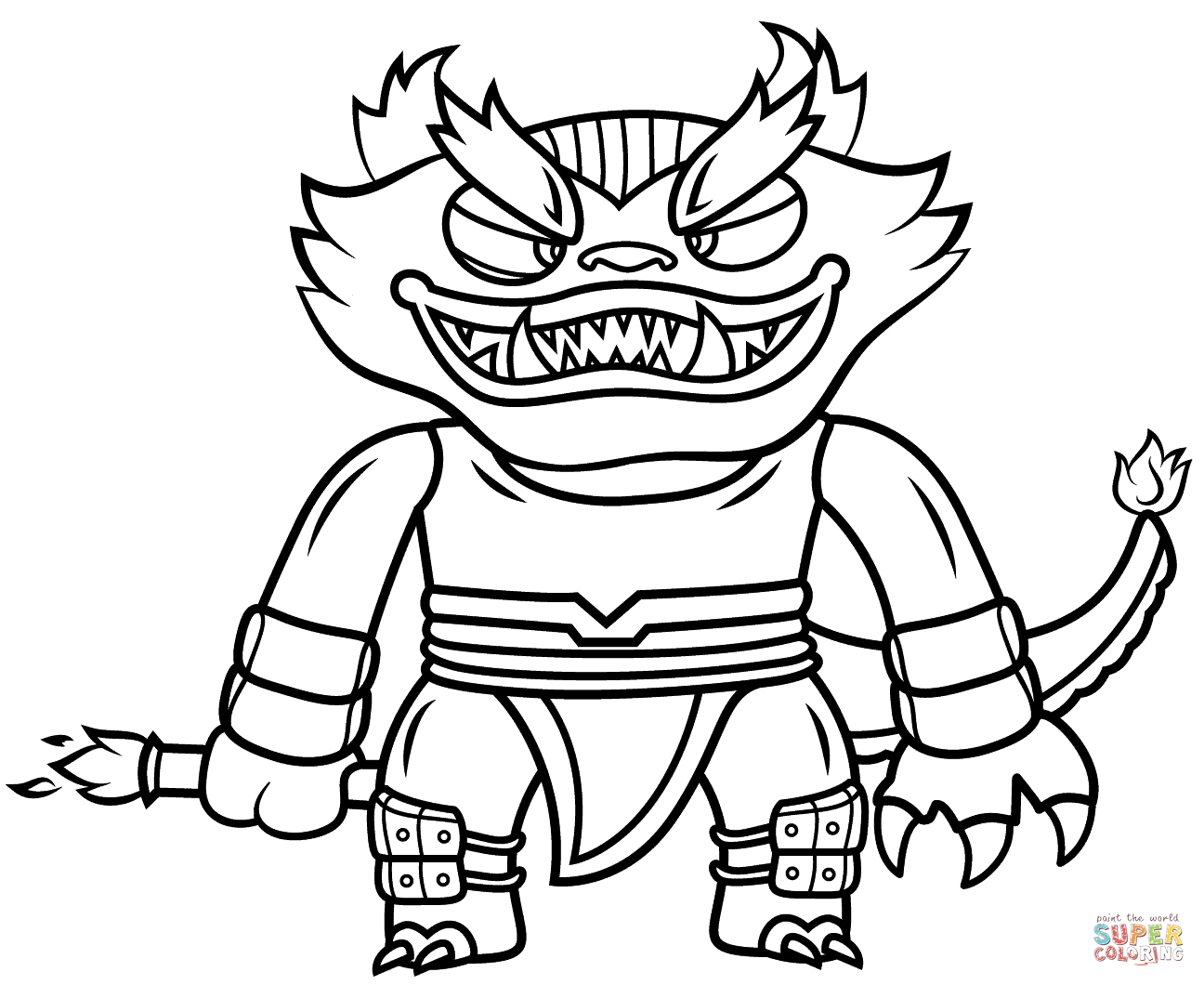 Coloriage - Skylanders Swap Force Fire Kraken | Coloriages à Coloriage Skylanders Swap Force