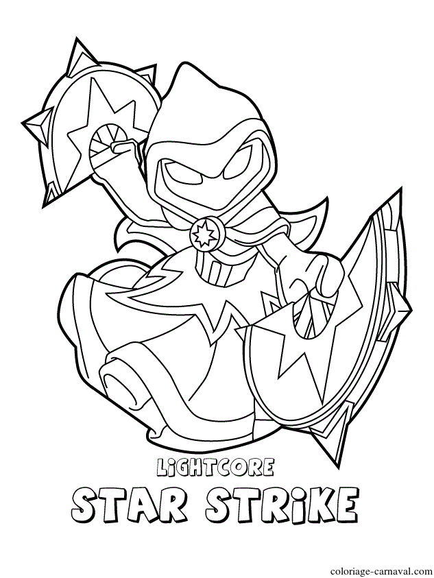 Coloriage Skylanders Swap Force Magic Lightcore Star concernant Coloriage Skylanders Swap Force