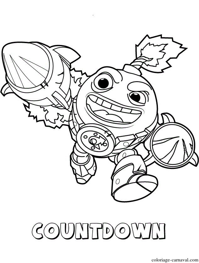 Coloriage Skylanders Swap Force Tech First Edition concernant Coloriage Skylanders Swap Force
