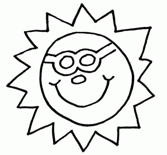 Coloriage Soleil Dans Le Ciel Facile Dessin Gratuit À Imprimer concernant Dessin Soleil Gratuit