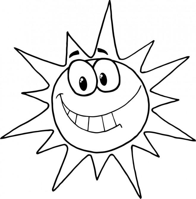 Coloriage Soleil Humoristique Dessin Gratuit À Imprimer pour Dessin Soleil Gratuit