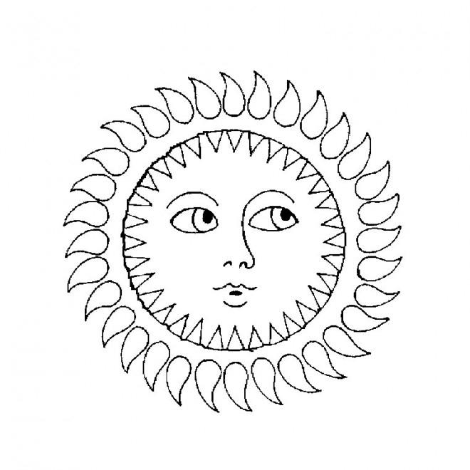 Coloriage Soleil Mandala Dessin Gratuit À Imprimer serapportantà Dessin Soleil Gratuit