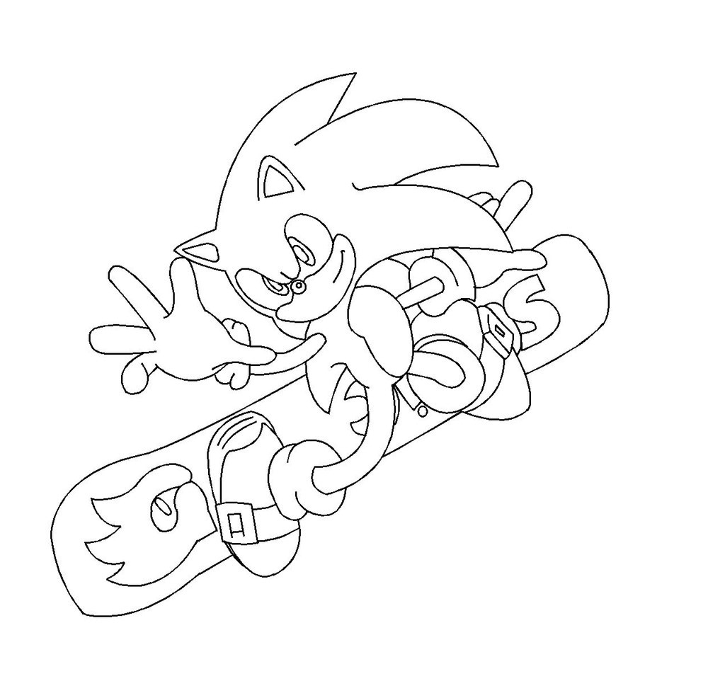 Coloriage Sonic Aux Jeux Olympiques À Imprimer Sur encequiconcerne Coloriage Sonic Le Film