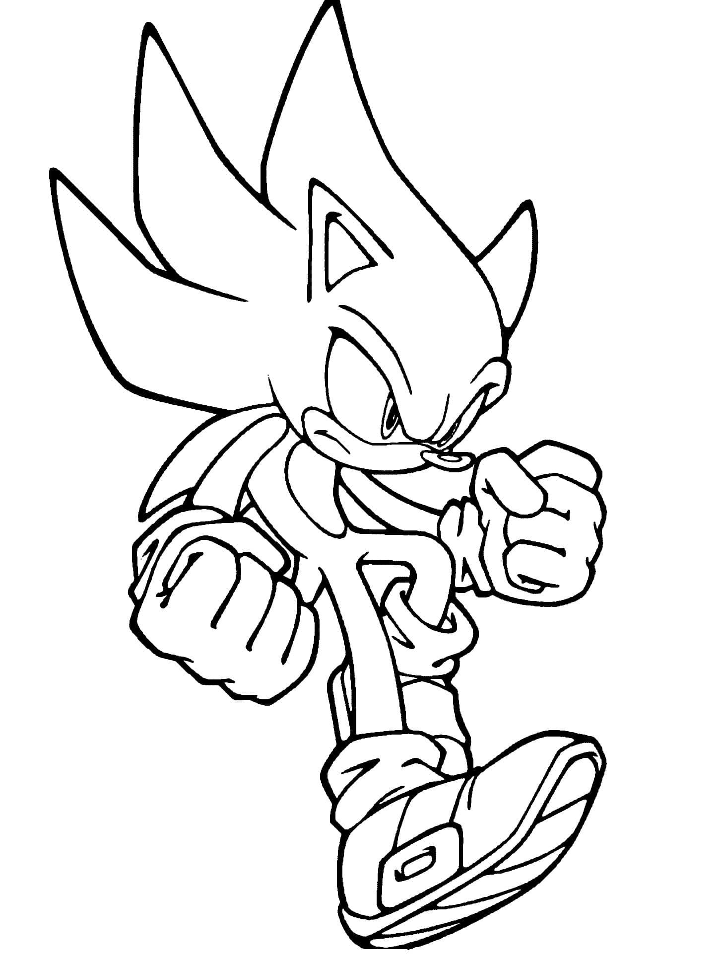 Coloriage Sonic. Imprimer Gratuitement, 100 Images avec Sonic À Colorier