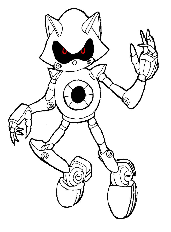 Coloriage Sonic Robot À Imprimer Sur Coloriages à Sonic À Colorier