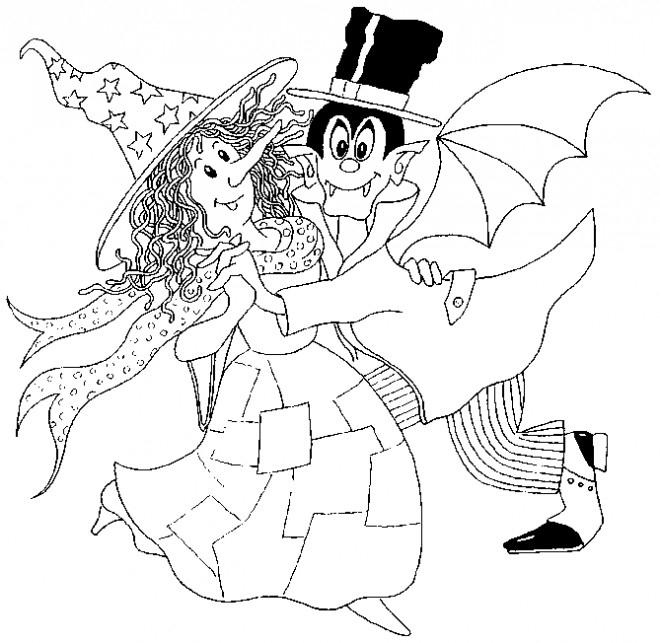 Coloriage Sorcière Et Dracula Dessin Gratuit À Imprimer tout Coloriage De Paon Gratuit A Imprimer