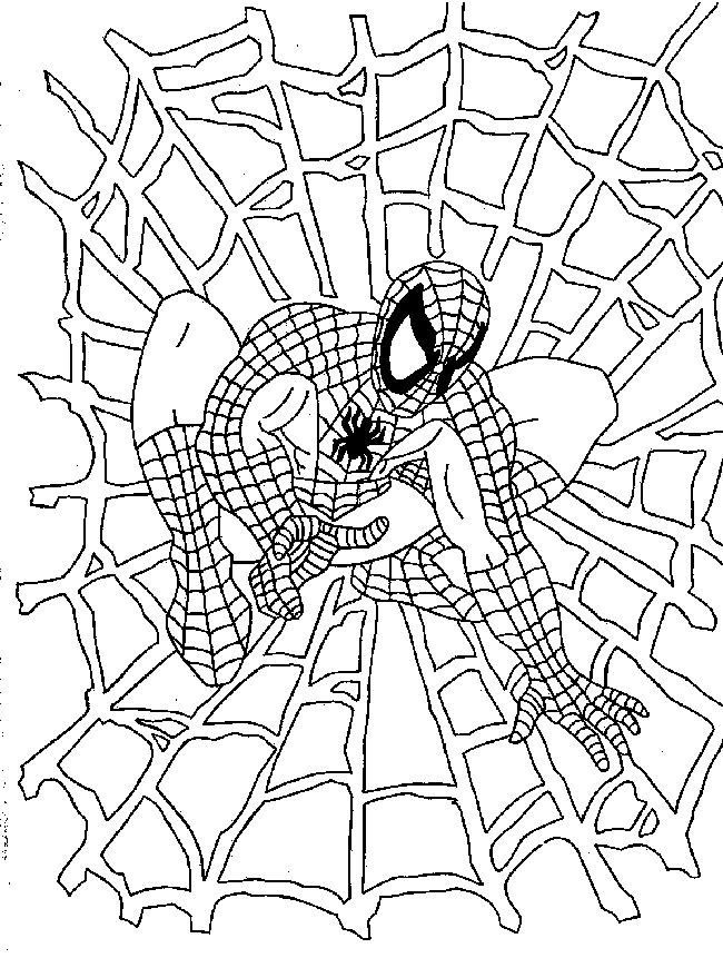 Coloriage Spiderman | 321 Coloriage intérieur Coloriage Spiderman