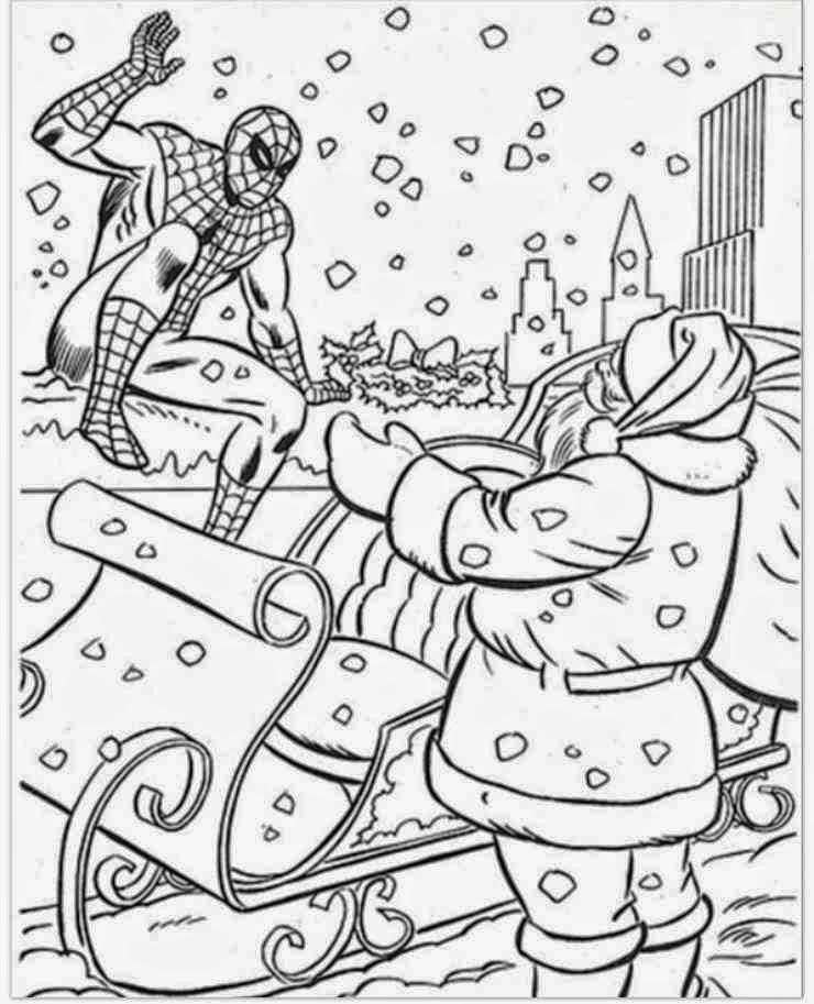 Coloriage Spiderman A Imprimer Gratuit | Liberate avec Coloriage Gratuit Hourra Heros