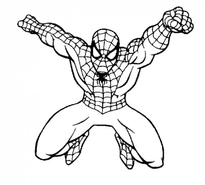 Coloriage Spiderman À L'Assaut Dessin Gratuit À Imprimer serapportantà Coloriage De Spiderman Noir