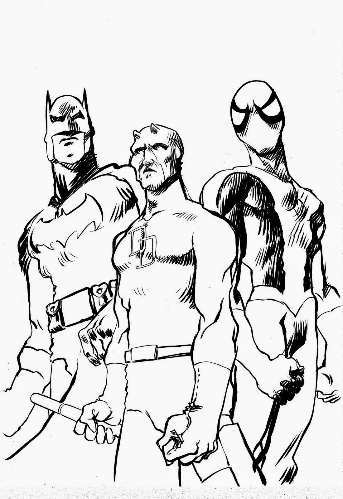 Coloriage Spiderman Et Batman | Coloriage En Ligne dedans Dessin À Colorier En Ligne