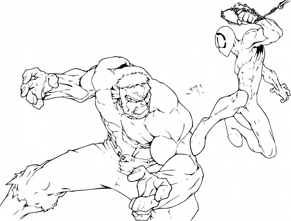 Coloriage Spiderman Et Hulk À Imprimer Sur Coloriages à Coloriage Hulk A Imprimer Gratuit
