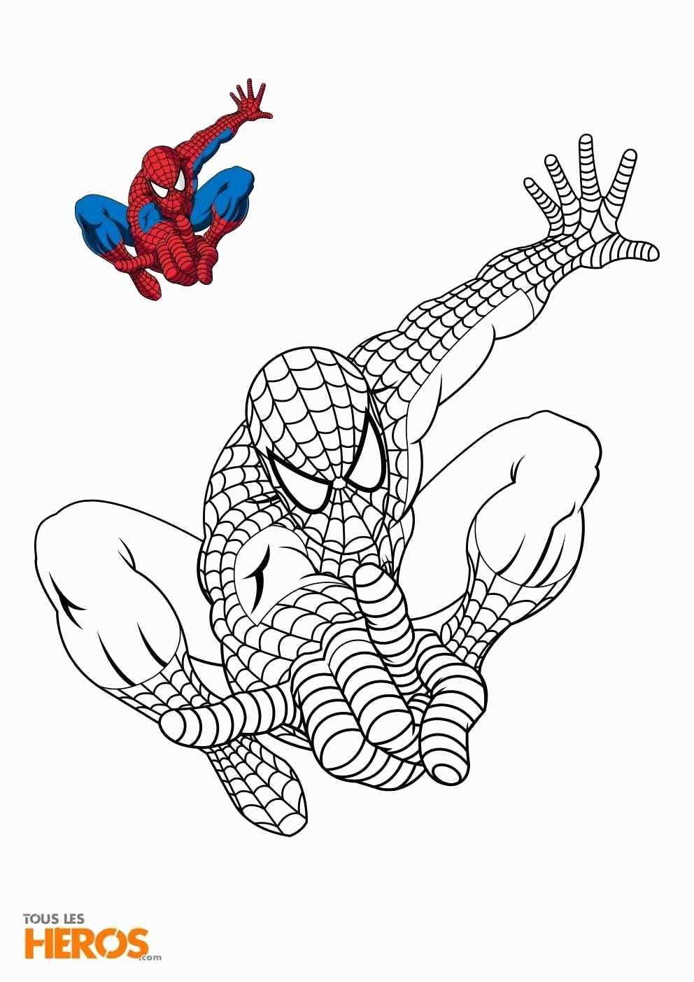 Coloriage Spiderman Gratuit Beau Coloriage Magique dedans Coloriage De Spiderman