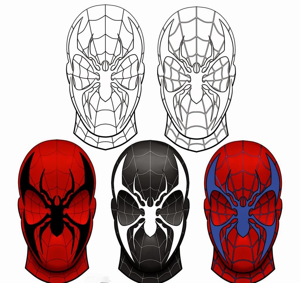 Coloriage Spiderman Masque | Coloriage En Ligne encequiconcerne Coloriage En Ligne Hulk