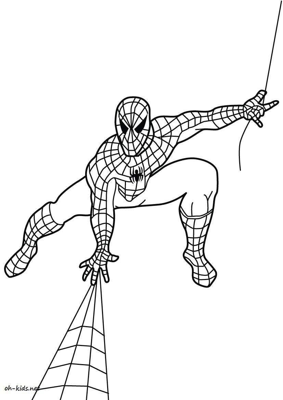 Coloriage Spiderman - Oh Kids Fr concernant Dessin A Imprimer Spiderman 4