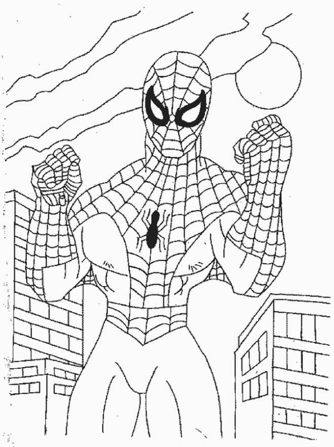 Coloriage Spiderman Prêt Au Combat Dessin Gratuit À Imprimer intérieur Dessin A Imprimer Spiderman 4