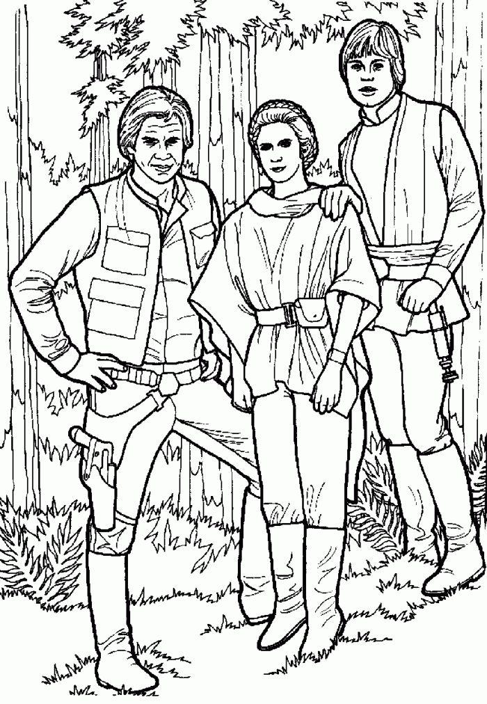 Coloriage-Star-Wars-Han-Solo-Luke-Leila-3.Gif (700×1012 tout Coloriage A4 À Imprimer