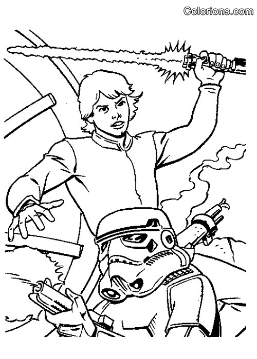 Coloriage Star Wars Lego avec Star Wars A Colorier