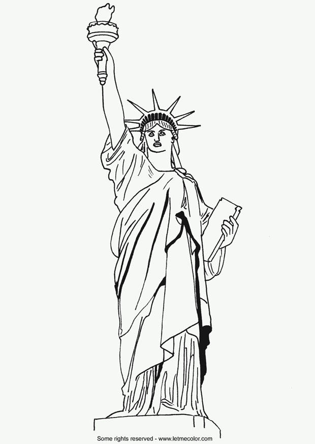 Coloriage Statue De La Liberté - Coloriages Gratuits À encequiconcerne Statue De La Liberté Dessin
