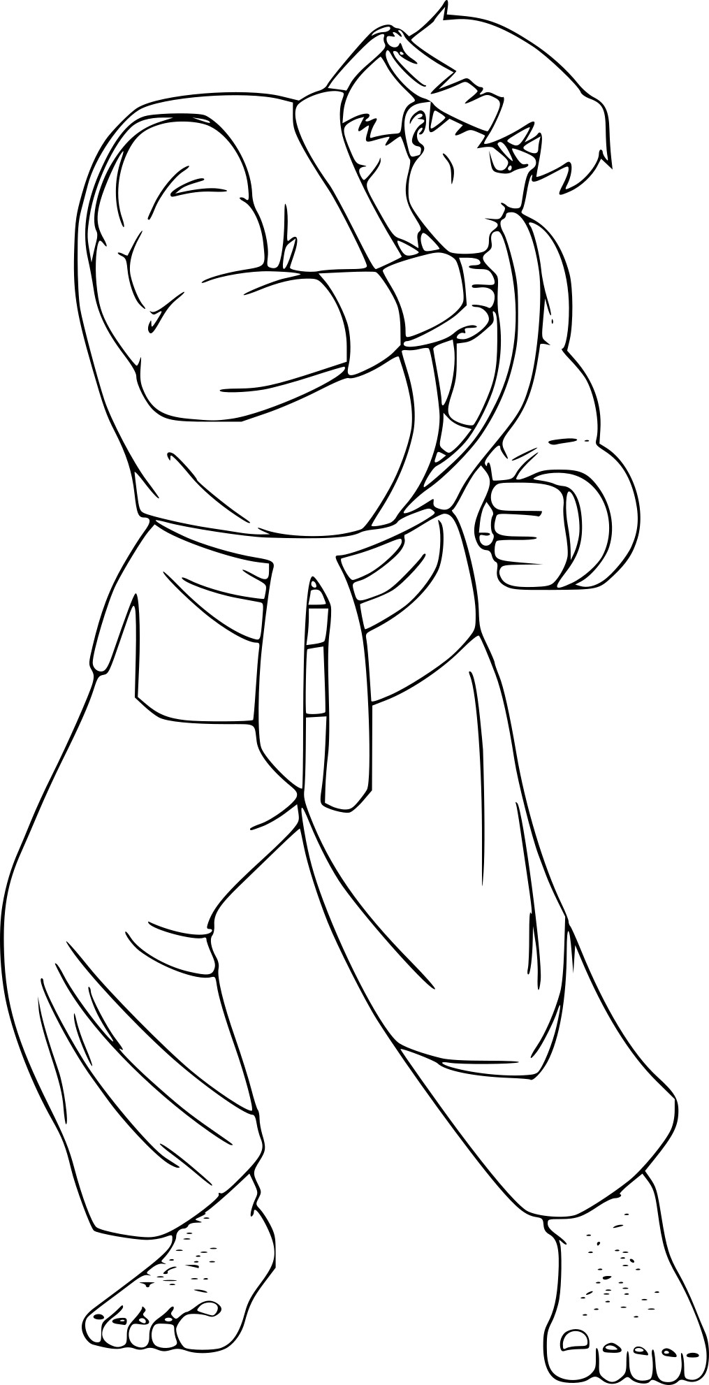 Coloriage Street Fighter À Imprimer tout Dessins A Colorier