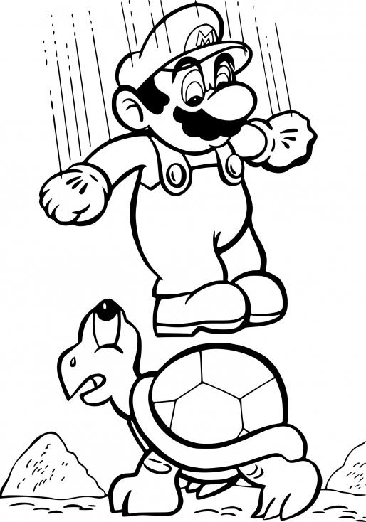 Coloriage Super Mario Bros À Imprimer dedans Coloriage Mario