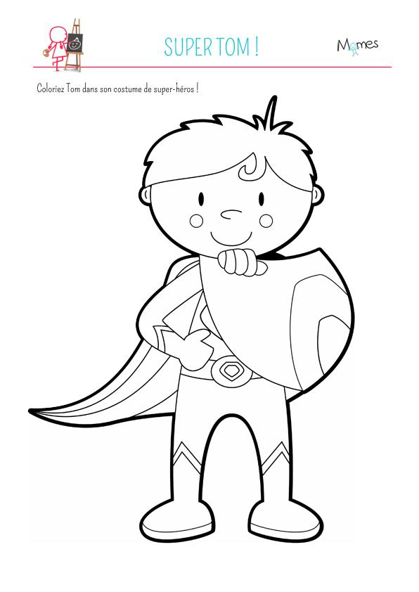 Coloriage Super Tom - Momes avec Coloriage Super Héros A Imprimer