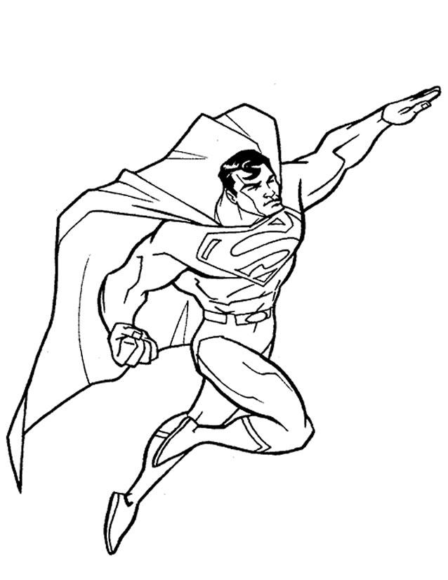 Coloriage Superman À Imprimer Gratuitement dedans Coloriage Superman A Imprimer Gratuit