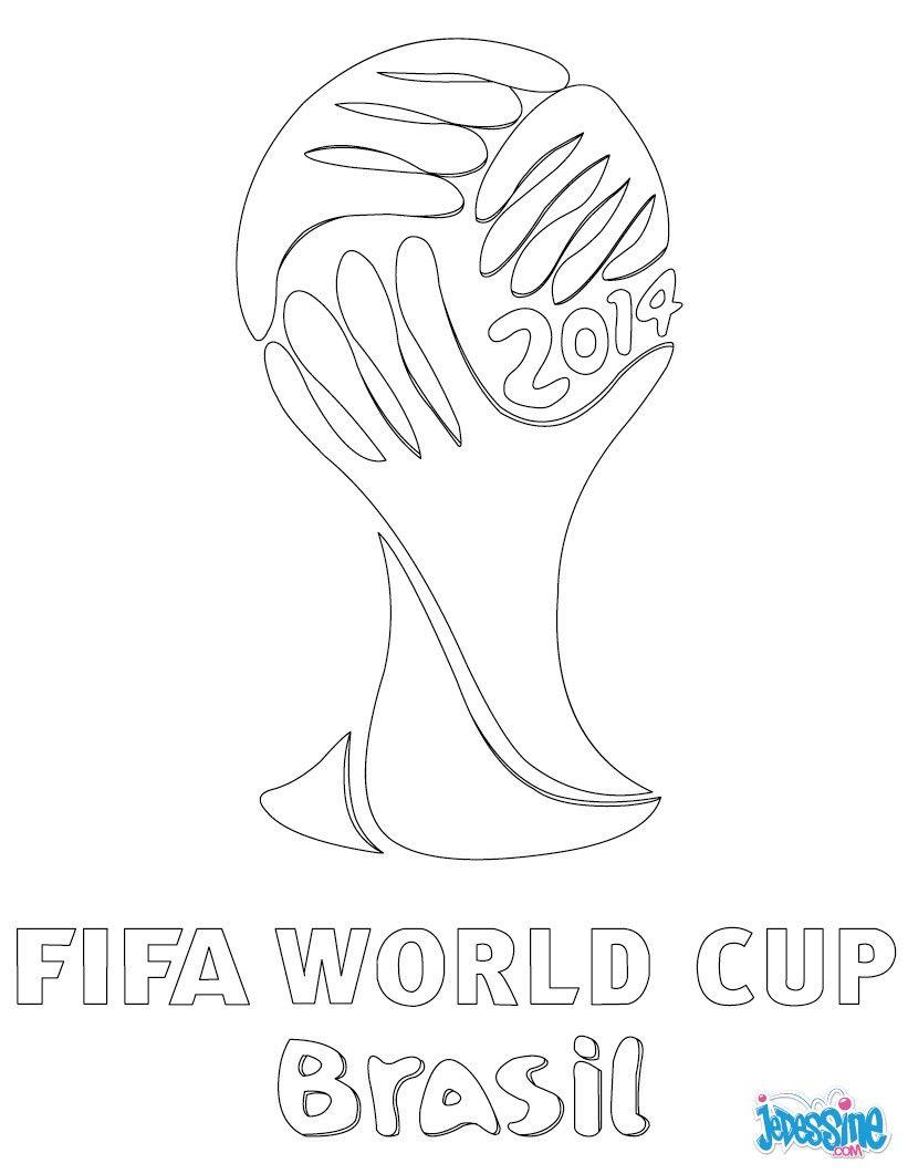 Coloriage Sur La Coupe Du Monde De Foot Au Brésil. À dedans Coupe Du Monde Dessin