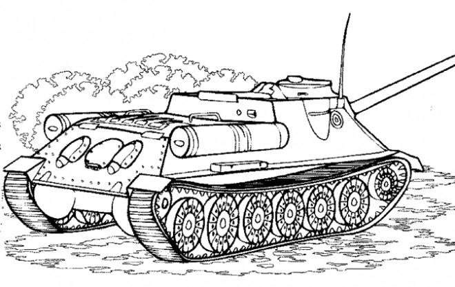 Coloriage Tank De Combat Dessin Gratuit À Imprimer à Dessin De Tank