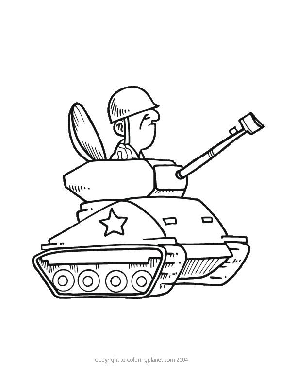 Coloriage Tank Et Soldat Drôle Dessin Gratuit À Imprimer avec Dessin De Tank